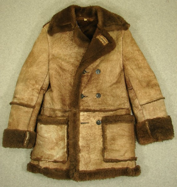 AWESOME 70s VINTAGE WILSONS SHEEPSKIN SHEARLING COAT- 38 ...