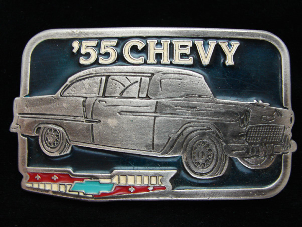 OC VINTAGE 1970s 55 CHEVY CLASSIC CAR PEWTER