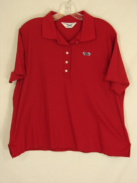 Vintage 70s jcpenney the fox for women red polo shirt 44 for Jcpenney ladies polo shirts