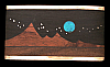PK04156 VINTAGE 1970s KENNETH REID *MOON OVER MOUNTAIN* WOOD & TURQUOISE BUCKLE