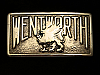 PK15149 VINTAGE 1940s **WENTWORTH** POLISHED SOLID BRASS BELT BUCKLE