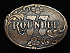 QC01143 VINTAGE 1977 **DR. PEPPER ROUNDUP '77** SODA FOUNTAIN BELT BUCKLE
