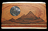 QE04164 *NOS* 1970s LARGE SIZE KENNETH REID **MOONLIT MOUNTAIN** ARTWORK BUCKLE