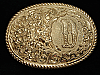 QF05112 VINTAGE 1970s INITIAL **D** ENGRAVED WESTERN & COWBOY CRUMRINE BUCKLE