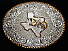 QH05148 VINTAGE 1970s **TEXAS** STATE COMMEMORATIVE CRUMRINE BELT BUCKLE