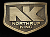 QI11112 *NOS* VINTAGE 1970s *NORTHRUP KING* SEED COMPANY AGRICULTURE BELT BUCKLE