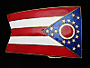 QI11115 VINTAGE 1970s **STATE FLAG OF OHIO** COMMEMORATIVE BELT BUCKLE