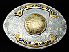 QI11118 1998 **LOST WAGES 200 SENIOR CHAMPION** TRAPHSHOOTING TROPHY BELT BUCKLE
