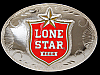 QI11150 *NOS* REALLY NICE **LONE STAR BEER** BREWING COMPANY CHROME BELT BUCKLE