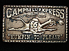 QK03113 VINTAGE 1970s *CAMBELL EXPRESS SNORTIN' NORTON* TRUCKING COMPANY BUCKLE