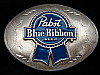 QK03156 REALLY COOL **PABST BLUE RIBBON BEER** ADVERTISEMENT BELT BUCKLE