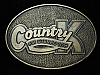 QL23110 VINTAGE 1970s *COUNTRY K FM STEREO 108* MUSIC RADIO STATION BELT BUCKLE