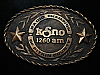 QL23115 VINTAGE 1980 **KSNO 1260 AM PITKIN COUNTY** MUSIC RADIO STATION BUCKLE