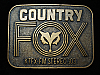 QL23118 VINTAGE 1970s *FOX KTFX-FM 103 COUNTRY* MUSIC RADIO STATION BELT BUCKLE