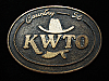 QL23122 VINTAGE 1970s **KWTO COUNTRY 56** MUSIC RADIO STATION BELT BUCKLE