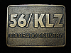 QL23123 VINTAGE 1970s *56 KLZ COLORADO COUNTRY* MUSIC RADIO STATION BELT BUCKLE
