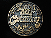QL23126 VINTAGE 1970s **KMPS LOVE OUR COUNTRY** MUSIC RADIO STATION BELT BUCKLE