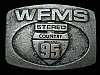 QL23147 VINTAGE 1970s **WFMS 95 STEREO COUNTRY** MUSIC RADIO STATION BELT BUCKLE