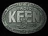 QL23154 VINTAGE 1970s **RADIO KEEN 1370 COUNTRY** RADIO STATION BELT BUCKLE