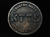 QL23156 VINTAGE 1970s *KTTS COUNTRY SPRINGFIELD* MUSIC RADIO STATION BELT BUCKLE