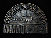 QL23159 VINTAGE 1970s **WMAQ 670 COUNTRY** MUSIC RADIO STATION BELT BUCKLE