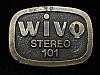 QL23166 VINTAGE 1970s **WIVQ STEREO 101** MUSIC RADIO STATION BELT BUCKLE