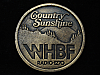 QL23168 VINTAGE 1970s *WHBF RADIO 1270 COUNTRY* MUSIC RADIO STATION BELT BUCKLE