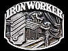 COOL VINTAGE 1990 OCCUPATION: IRON WORKER PEWTER BUCKLE