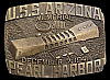 IH06115 VINTAGE 1984 **USS ARIZONA MEMORIAL** 1941 PEARL HARBOR BUCKLE