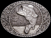 AWESOME VINTAGE 1982 BIG MOUTH BASS PEWTER BELT BUCKLE