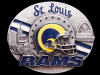 COOL VINTAGE 1995 ST. LOUIS RAMS FOOTBALL PEWTER BUCKLE