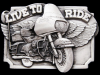FANTASTIC VINTAGE 1983 ***LIVE TO RIDE*** PEWTER BUCKLE