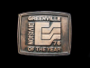 IH19165 VINTAGE 1976 **GREENVILLE** DIVISION OF THE YEAR BUCKLE