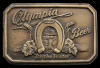 AWESOME VINTAGE 1970s BEER BUCKLE **OLYMPIA** BRASS