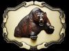 NOS VINTAGE 1970s **ROARING GRIZZLY BEAR** BRASS BUCKLE