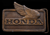 GREAT VINTAGE 1976 BUCKLE **HONDA MOTORCYCLES** BRASS