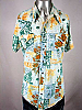 VINTAGE 1970s FLORAL POLYESTER PEARLSNAP DISCO SHIRT 42