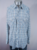 AWESOME VINTAGE 1970s PLAID WESTERN PEARLSNAP SHIRT 46