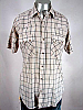 VINTAGE 1980s DEE CEE CREAM PLAID PEARLSNAP SHIRT - 45