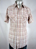 1980s DEE CEE PLAID SAWTOOTH PKT S/S PEARLSNAP SHIRT 43