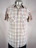 1980s PLAID SHORTSLEEVE SAWTOOTH PKT PEARLSNAP SHIRT 40