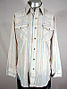 VINTAGE 1970s DEE CEE STRIPED COWBOY PEARLSNAP SHIRT 44