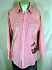 VINTAGE **DEE CEE** RED PEARLSNAP SHIRT w/SNAKE - L 45