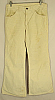 1970s LEVI 663 CREAM CORDUROY BELLBOTTOM PANTS - 33x29
