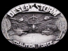 1991 *DESERT STORM COALITION FORCE* PEWTER BELT BUCKLE
