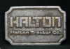 HE17107 VINTAGE 1980s ***HALTON TRACTOR CO.*** PEWTER BUCKLE