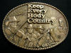 GL14704 VINTAGE 1970s **KEBC RADIO** FM 94 OKLAHOMA CITY COUNTRY MUSIC BUCKLE