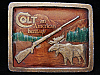 IC19136 VINTAGE 1976 ***COLT FIREARMS*** MOOSE & RIFLE BUCKLE