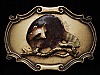 NICE VINTAGE 1978 **RACCOON ON BRANCH** RAINTREE BUCKLE
