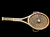 HK19172 VINTAGE 1978 3D CUT-OUT **TENNIS RACQUET** SOLID BRASS BUCKLE